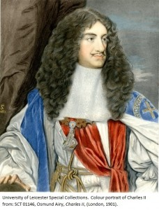 Colour portrait of Charles II from: SCT 01146, Osmund Airy, Charles II, (London, 1901).