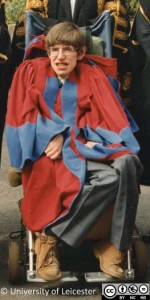 Professor Stephen Hawking honorary degree 1982