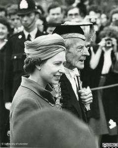 Queen Elizabeth II and Lord Adrian, 1957