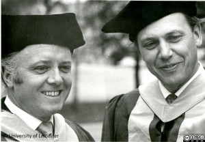 Richard and David Attenborough receiving honorary degrees 1970