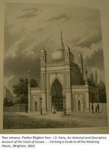 'New entrance, Pavilion, Brighton' from: SCM 08510, J.D. Parry, An Historical and Descriptive Account of the Coast of Sussex … : Forming a Guide to All the Watering Places, (Brighton, 1833)