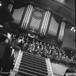A photograph of the Graduation Ceremony at De Montfort Hall in the summer of 1963.