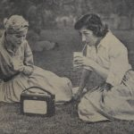 'Lunch in the sunshine on Victoria Park', c.1957 Taken from: Student Union Press Cuttings Book, SU/PC3