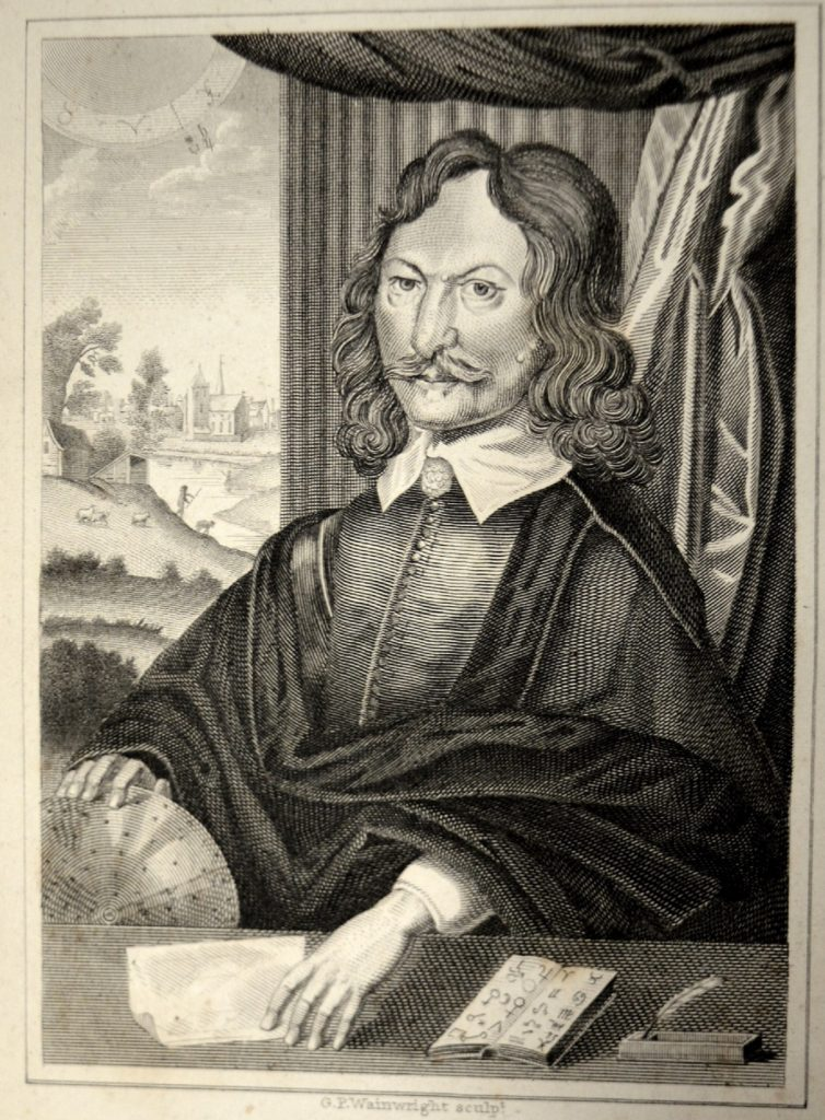 University of Leicester Special Collections. Engraved portrait of astrologer William Lilly from: William Lilly, William Lilly's history of his life and times, from the year 1602 to 1681, (London 1822), SCM 10949.