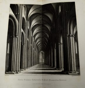 University of Leicester Special Collections. The nave, known as Paul's Walk, from: SCT 00908, William Dugdale, The History of St. Pauls Cathedral in London : From its Foundation Untill these Times …, (London, 1818).