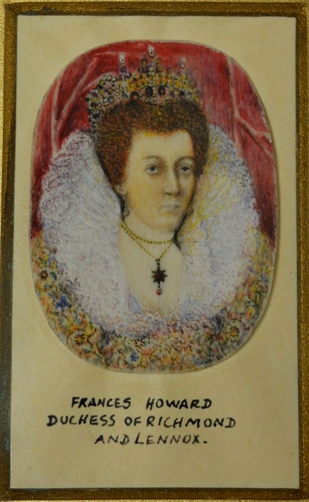 University of Leicester Special Collections. Miniature of Frances Stuart (née Howard), Duchess of Richmond and Lennox, from the Fairclough Collection