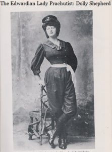 Dolly Shepherd as an Edwardian Lady Parachutist (Image: Debra Wallace)
