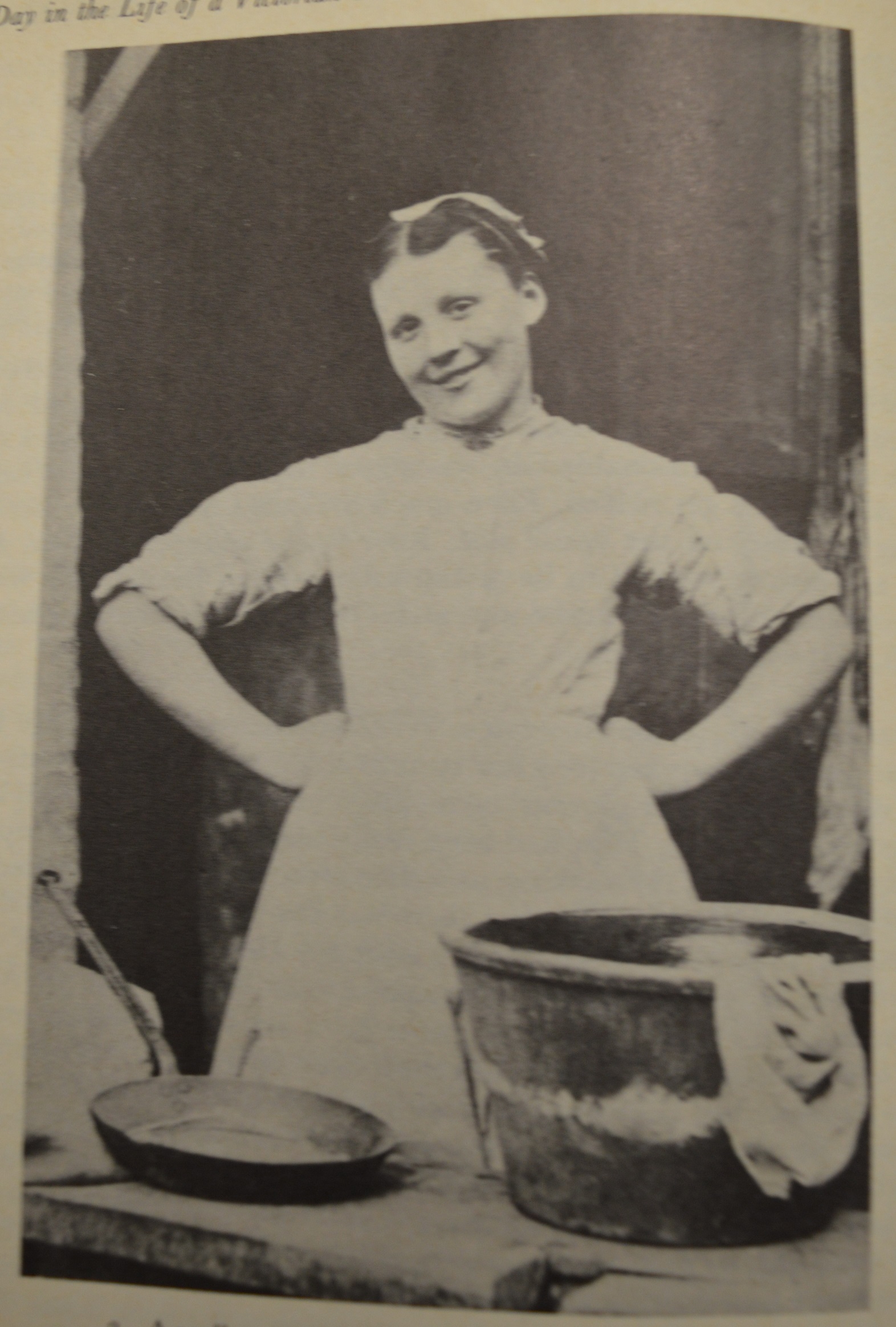 Photograph of a Scullery Maid, 1870 (Munby)