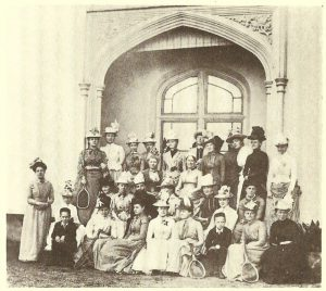 Photograph of Belmont House Society, Meeting at New Parks, 1888