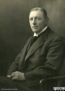 University of Leicester Archives, ULA/FG9/1/7, Black and white photograph of Dr. Astley Clarke.
