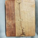 Photograph of University of Leicester Special Collections MS 210, Ethiopic manuscript, front cover