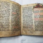 Photograph of University of Leicester Special Collections MS 210, Ethiopic manuscript