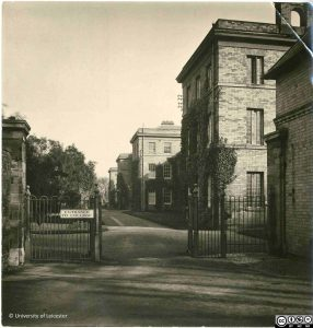 Entrance to Leicester, Leicestershire and Rutland College, 1920s, ULA/FG1/3/18