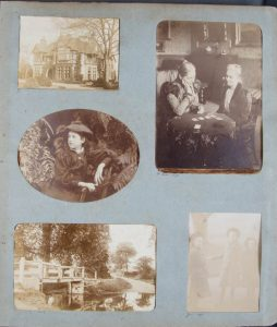 Page from Fielding Johnson family photo album, by kind permission the descendants of Thomas Fielding Johnson.
