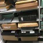Some of the AIM papers in the archive store, before processing.