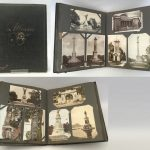 Leather-bound album of postcards, Scottish, c.1910s-1930s, curator's collection.