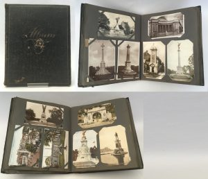 Photograph of Leather-bound album of postcards, Scottish, c.1910s-1930s