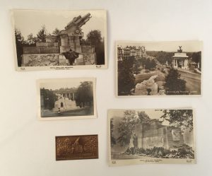Photograph of images depicting the Royal Artillery Memorial, Hyde Park Corner, London.