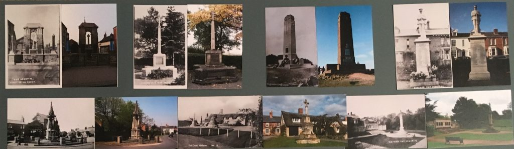 Selection of war memorial images from Leicestershire