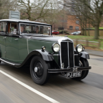 Coventry University's 1932 Lanchester car on the move