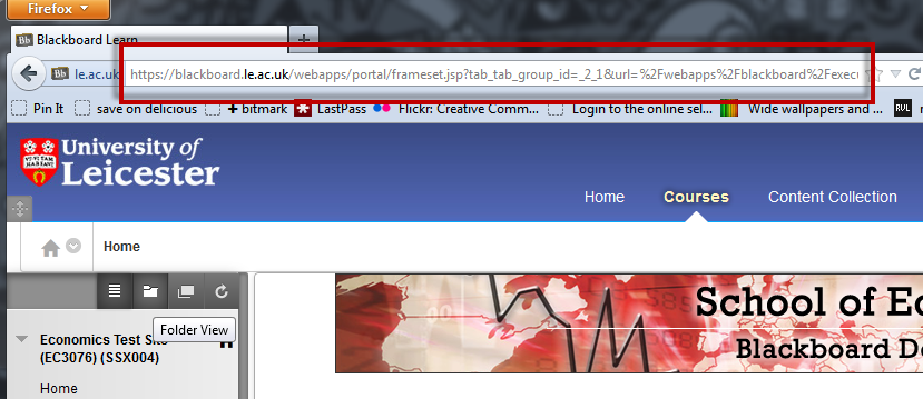 Blackboard URL
