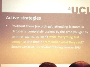 student quote from UCL