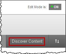 discover reusable content button