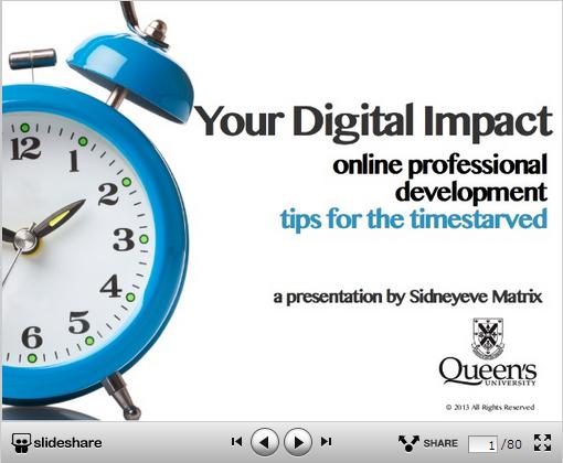 Your Digital Impact: Online Professional Branding Tools & Strategies for Academics from Sidneyeve Matrix
