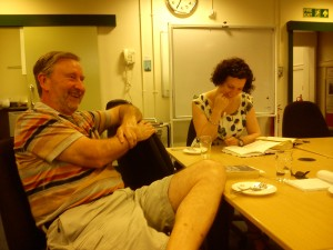 Members of the Book Group laughing.