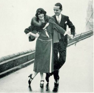 Fread and Adele Astaire pictured in The Sweet and Twenties: a shadow across the page?