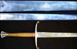 The Sword of Stalingrad is one of the swords referenced in the trilogy's title.