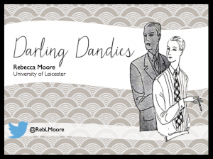 The first slide from my presentation, 'Darling Dandies' which dealt with three of Waugh's dandyish female characters.