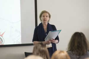 Selina Hastings giving her talk about Waugh and Nancy Mitford on Saturday