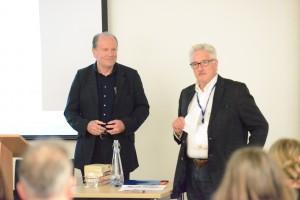 Martin Stannard introduces William Boyd before his Saturday evening keynote.