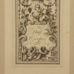 """Duff Cooper bookplate pasted inside the autograph draft of """"Ninety-Two Days"""", a highlight of the Rothschilds' Waugh Collection. Box 9(13), Evelyn Waugh Papers, The Huntington Library, San Marino, California. Image by Naomi Milthorpe"""