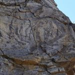 Spectacular deformation (folding) within the Grey's Landing Ignimbrite. Photo credit: Dr Tom Knott, lead author